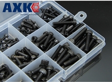 280pcs M2.5 (2.5mm)  Alloy Steel Grade12.9 Tensile Socket Cap Screws Allen Bolts DIN912 With Hex Nuts Assortment Din912