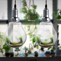 plant vase plants restaurant American Creative glass bulb decoration lighting lamp Pendant Lights personality