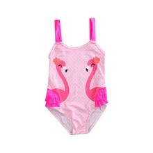 6aceca495 Encantador caliente Bañadores Niño bebé niños Niñas Cisne baño sin mangas  Niña bañadores lunares traje(