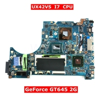 UX42VS With I7 CPU GeForce GT645 2G Mainboard For ASUS UX42 UX42V UX42VS Laptop Motherboard HM76 DDR3 100% Test free shipping