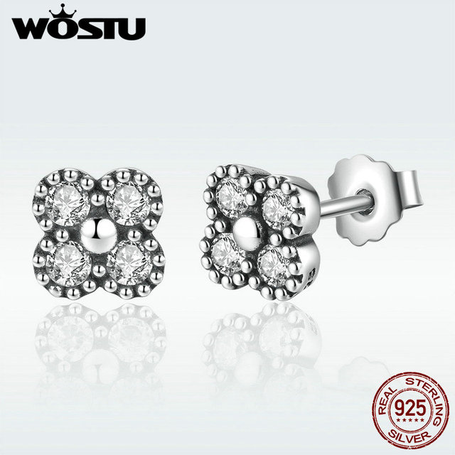 5b45bf863 Real 925 Sterling Silver Delicacy Oriental Blossom Stud Earrings For Women  Compatible With Original Pan Jewelry Gift