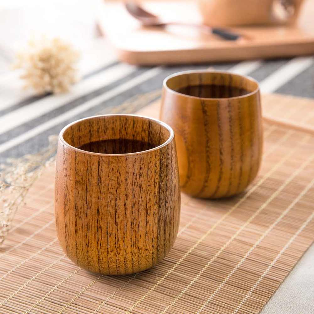 Home Furniture Japanese Wooden Tea Cup Large Volume Drink Water Wooden Cup Solid Wood Cup Chinese Tea Cup