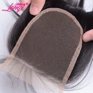 Image 5 - Paquetes de pelo lacio brasileño con cierre no remy cabello humano tejido paquete con cierre 28 30 32 pulgadas paquetes con cierre