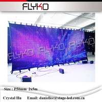 Art Center Show Led Edit Software P5mm 2 5m Led Video Curtain With SD Controller DMX