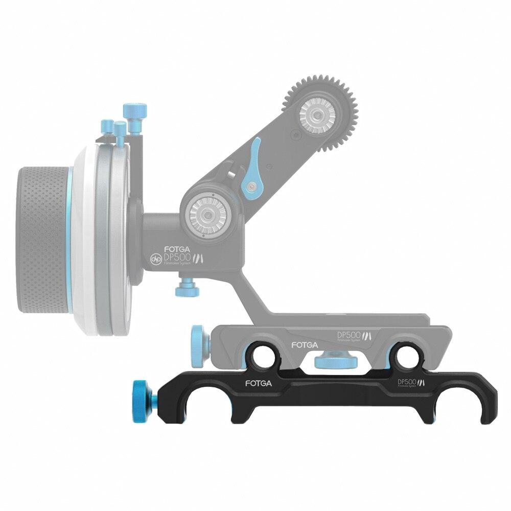 FOTGA DP500III 15mm to 19mm Rail Rod Clamp Adapter for DSLR QR Follow Focus Rig fotga dp500iii 15mm to 19mm rail rod clamp adapter for dslr qr follow focus rig f21812