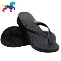 Hotmarzz Women S Home Solid Platform Flip Flops Slippers Wedges Thong Anti Slip Sandals Ladies House