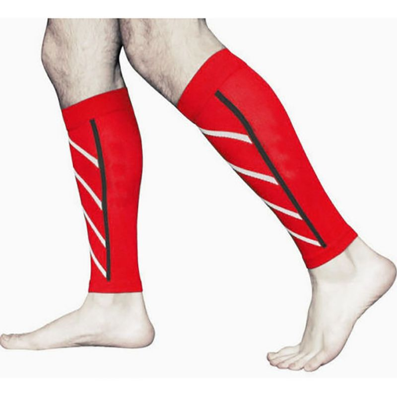 Compression Sports Safety Leg Warmers Base Layer Leg Sleeve Shin Guard Running Football Basketball Sports Calf Support in Cycling Legwarmers from Sports Entertainment