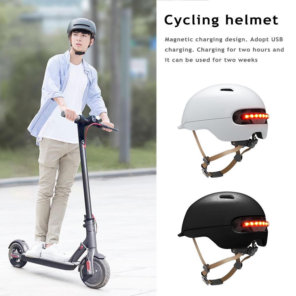 New Scooter Electric Flash Helmet For Xiaomi M365 Electric Skateboard Accessories Smart Flash Riding Helmets For Men And Women