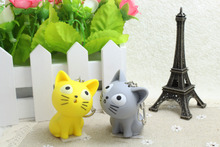 Cute Cat Keychain with Meow sound and Flashlight
