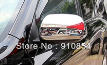 Chrome Side Mirrors Cover Rearview Trim Fit For 08 09 10 11 12 Toyota Highlander 2008 2009 2010 2011 2012 fast air ship