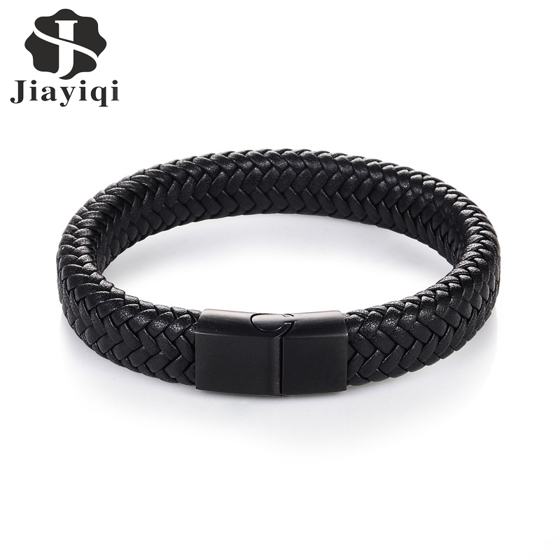 Jiayiqi 2017 Men Jewelry Punk Black Brais