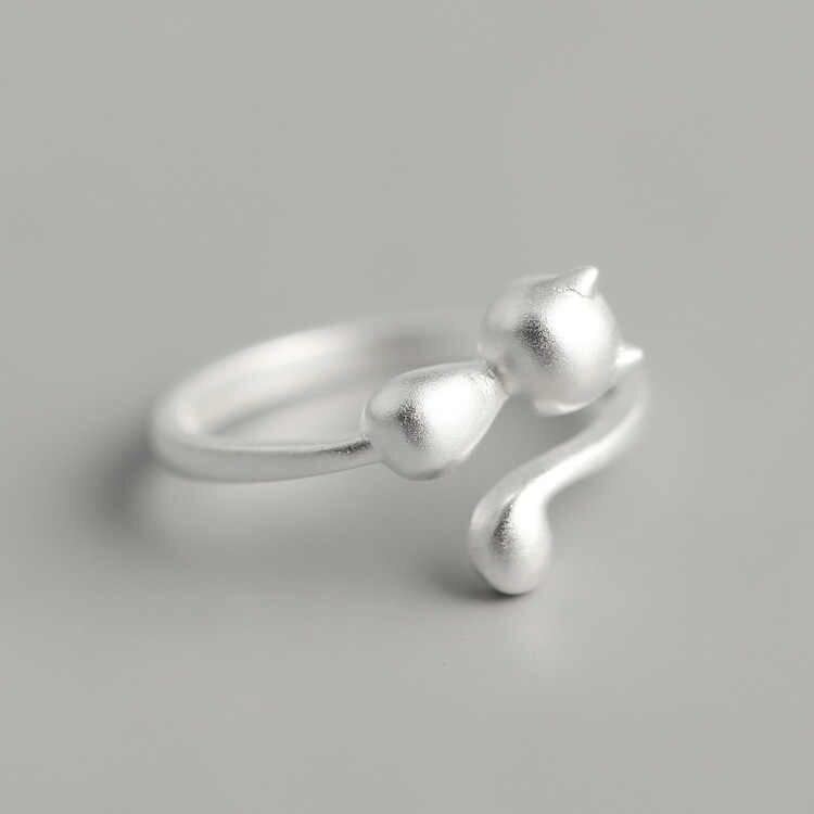 เครื่องประดับอินเทรนด์ 925 เงินสเตอร์ลิงแหวนโบราณสำหรับสุภาพสตรีขนาดใหญ่ปรับขนาดแหวน Joyas De Plata