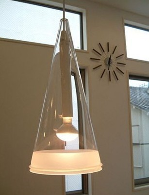 ФОТО Glass lamp  Pendant lights indoor lighting  cone Suspension light Fixture