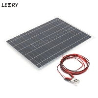 LEORY 20w 12V Flexible Solar Panel DIY Sunpower Solar Cells Battery Charger System Kits For Car