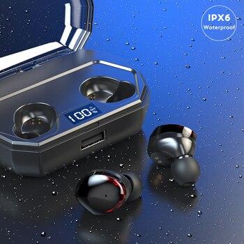 чехол для IPod | Arlado R10 TWS Bluetooth наушники с сенсорным управлением беспроводная гарнитура IPX6 водонепроницаемые наушники с ЖК-экраном зарядный чехол 2000 мАч