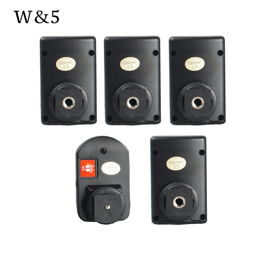 Wansen PT-04GY 4 Channels Wireless Remote Speedlite Flash Trigger +4 Receivers Universal for Canon Nikon Pentax Olympus wansen pt 04gy universal 1 to 3 3 receivers wireless flash trigger for nikon canon black