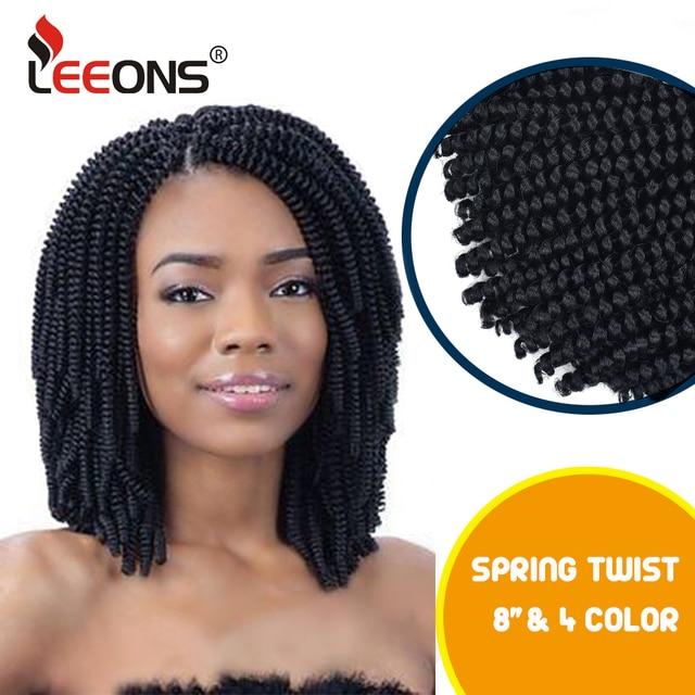 Leeons Spring Twist Hair Extension Crochet Braids Ombre Braiding