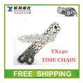 Yx yx140 cadena de distribución dirt motocicleta pit bike moto 140cc de aceite motor refrigerado por tiempo cadena KAYO accesorios envío gratis
