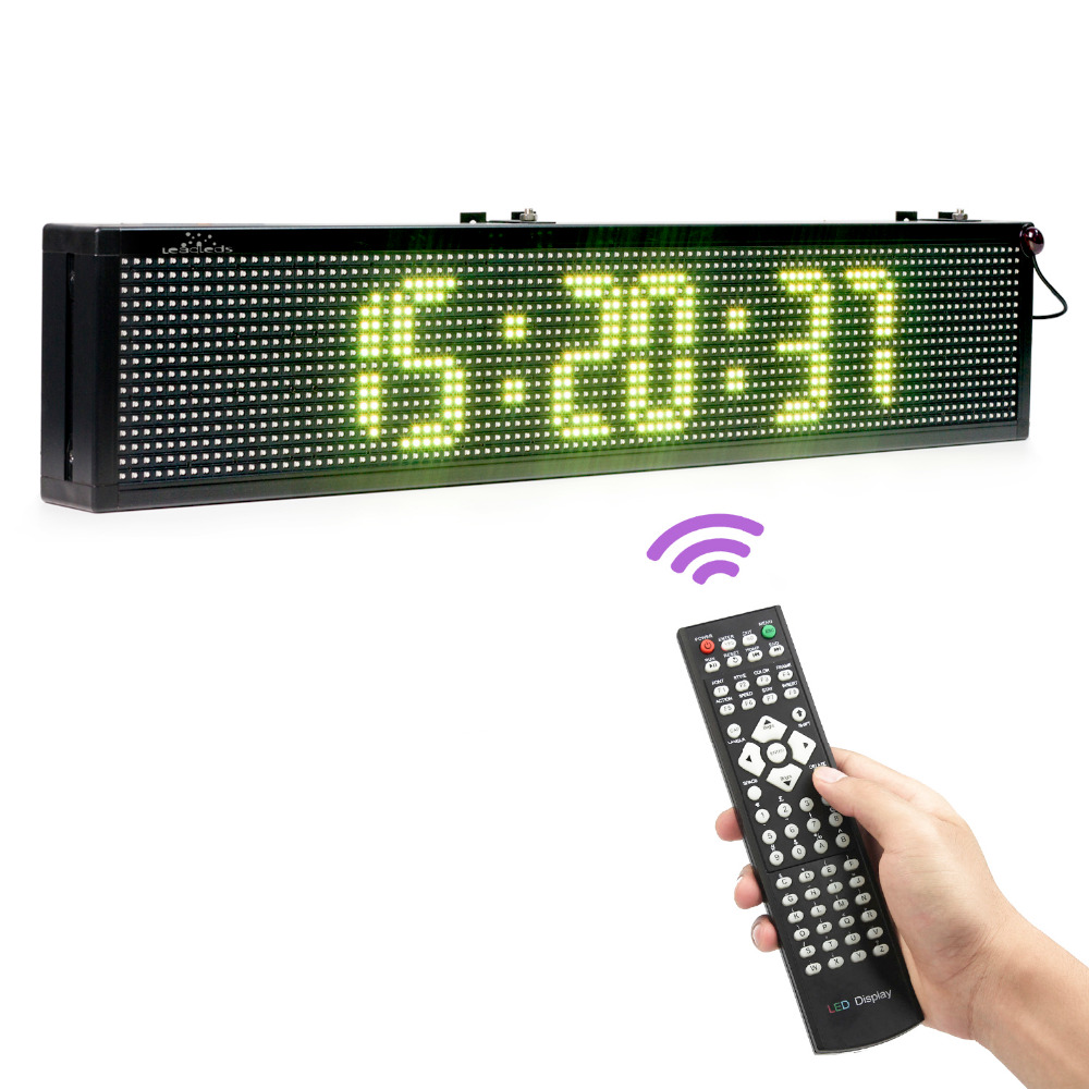 30inch LED Sign Remote Programmable Full-color LED Scrolling Message Of Advertising Business Leadership In The Shop Signs