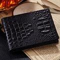 2016 Fashion Women Men Wallets Genuine Leather Wallet 3D Embossing Alligator Crocodile Mini Clutch Wallets Coin Purses Holders