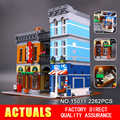Lepin 15011 Parsian Creator Expert City Street restaurant  Avengers Set Assemble Building Blocks Children Toys Gifts