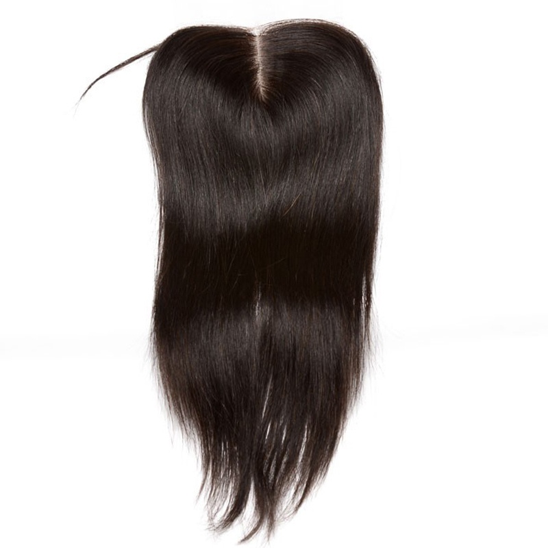 5X5 Lace Closure Pre Plucked Free Part Brazilian Straight Closure Bleached Knots Remy Human Hair You