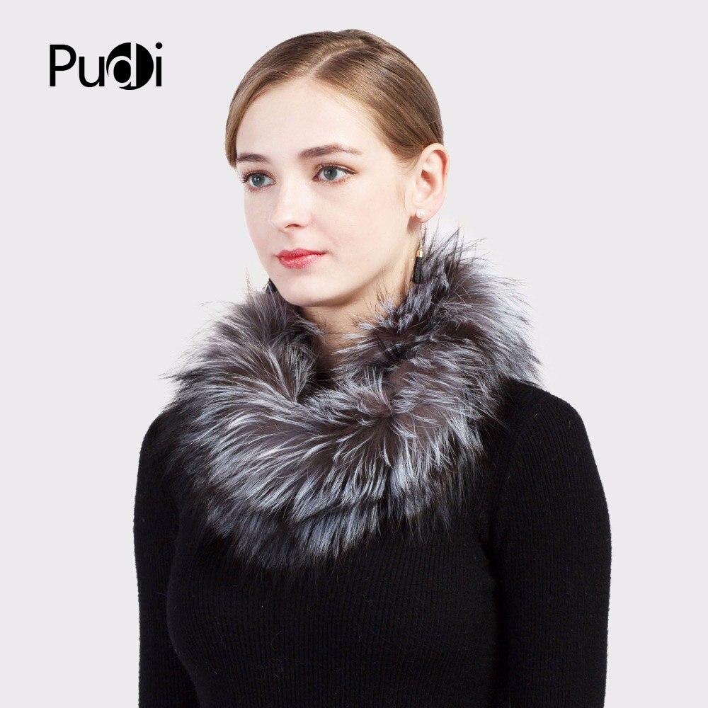 Pudi SF717 2018 Winter Mädchen echte Fuchspelz Schal Marke neue - Bekleidungszubehör - Foto 2
