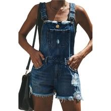 Мода Слинг Короткие Джинсовые Комбинезоны Шорты Женские Летние Новые Случайные Женщины Свободные