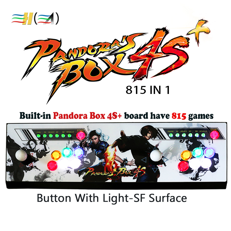 Original Pandora box 4s plus 815 game usb control controle arcade video game console pandora's box 4s+ 815 in 1 for tv pc arcade hdmi vga pandora box 4s arcade game board 815 in 1 with 28 pin harness for arcade mechine diy arcade kit