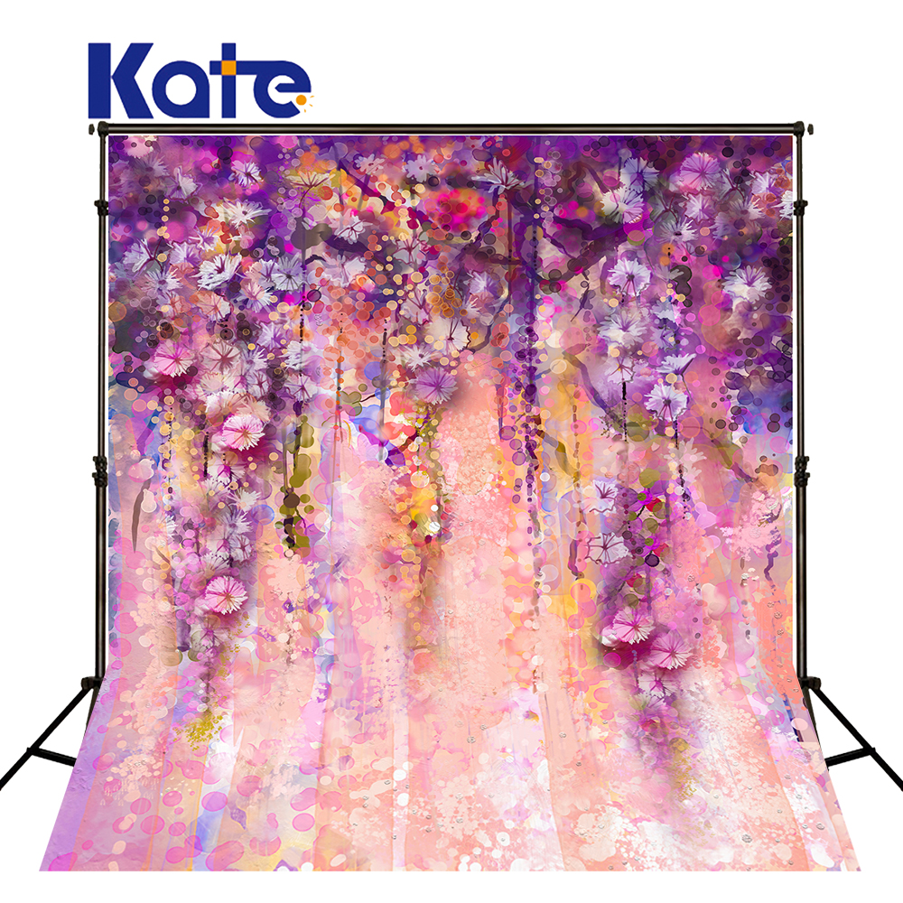 KATE Photo Backdrop 10X20 Floral Background Wedding Background Pink Newborn Backdrop Paint Backdrop For Photo Studio kate photo background scenery