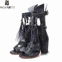 Prova Perfetto 2018 летние сандалии в гладиаторском стиле Ленточки Перо Декор босоножки на высоком каблуке Для женщин Пояса из натуральной кожи Зак