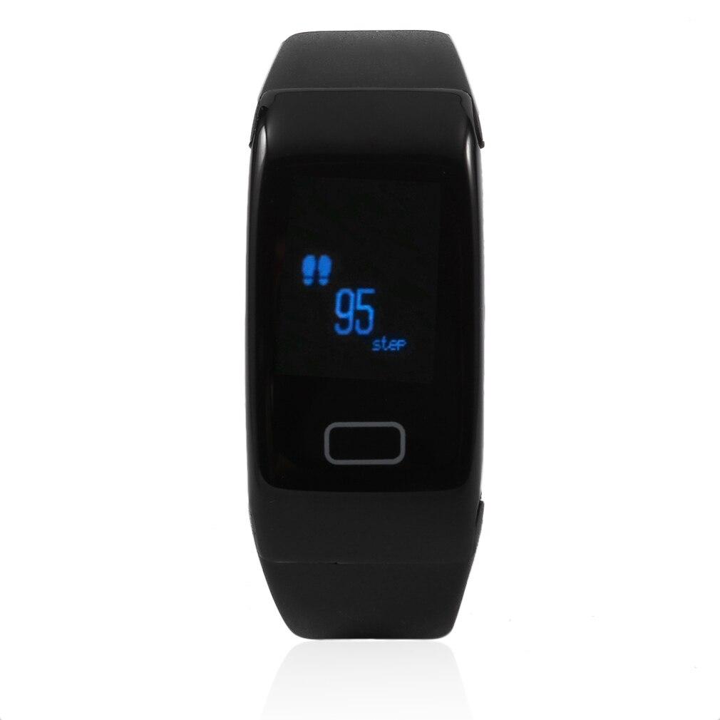 JW018 Professional Men Women Smart Bracelet Rubber Strap Bluetooth Connection Heart Rate Monitor Smart Bracelet Black все цены
