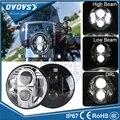 """DOT e-mark Aprobado Ronda 7 """"Led headlight Hi/lo Faros de Proyector de 7 Pulgadas Para Wrangler Motocicleta"""