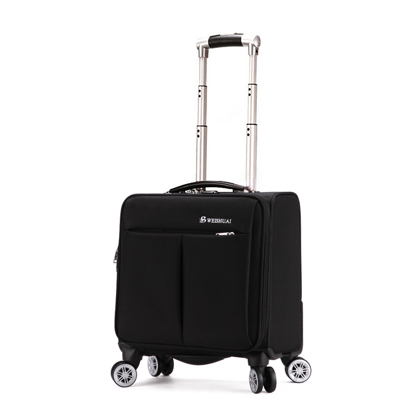 Travel trolley luggage commercial universal wheels luggage 18 oxford fabric for small soft box