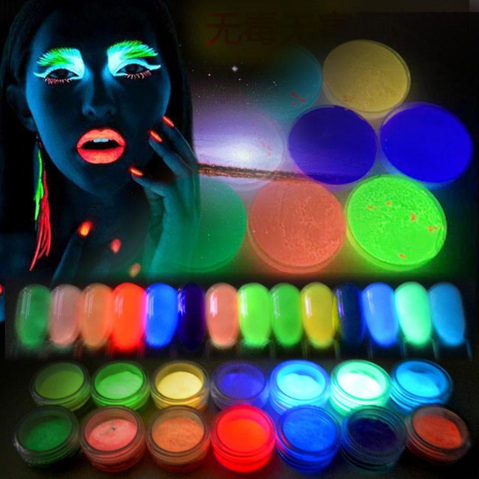 Nails Art & Werkzeuge Treu Glühenden Powder Glitter Für Nächte Glow In The Dark Pulver Leuchtenden Pulver Fluoreszenz Pigment Ultrafeinen Glitter Sf2030 Nagelglitzer