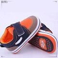 0-2 anos de idade do bebê menino sapatos primeira caminhada de 11-13 cm sapatos da criança menino infantil snearker 409