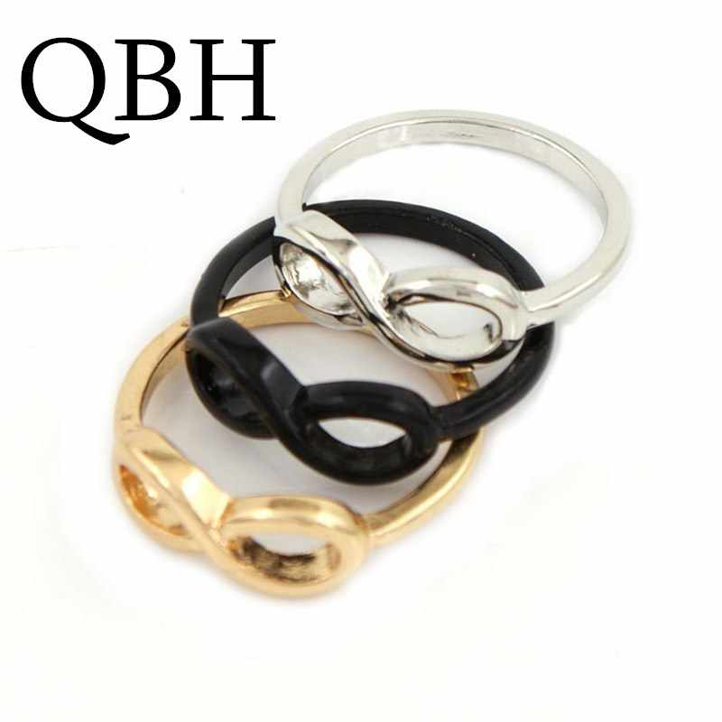 G154 Hot New Punk Men Bijoux Brand Anillo Fashion Bijoux Wholesales Infinity Luck 8 Alloy Rings For Women Wedding Jewelry Gift