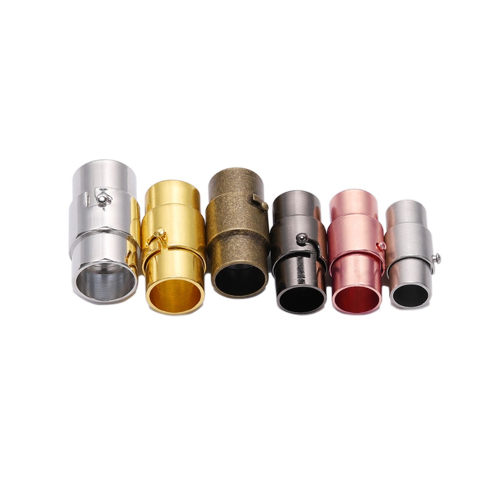 10pcs Magnetic Clasps Leather Cord Bracelet Connectors For DIY Jewelry Making#Q