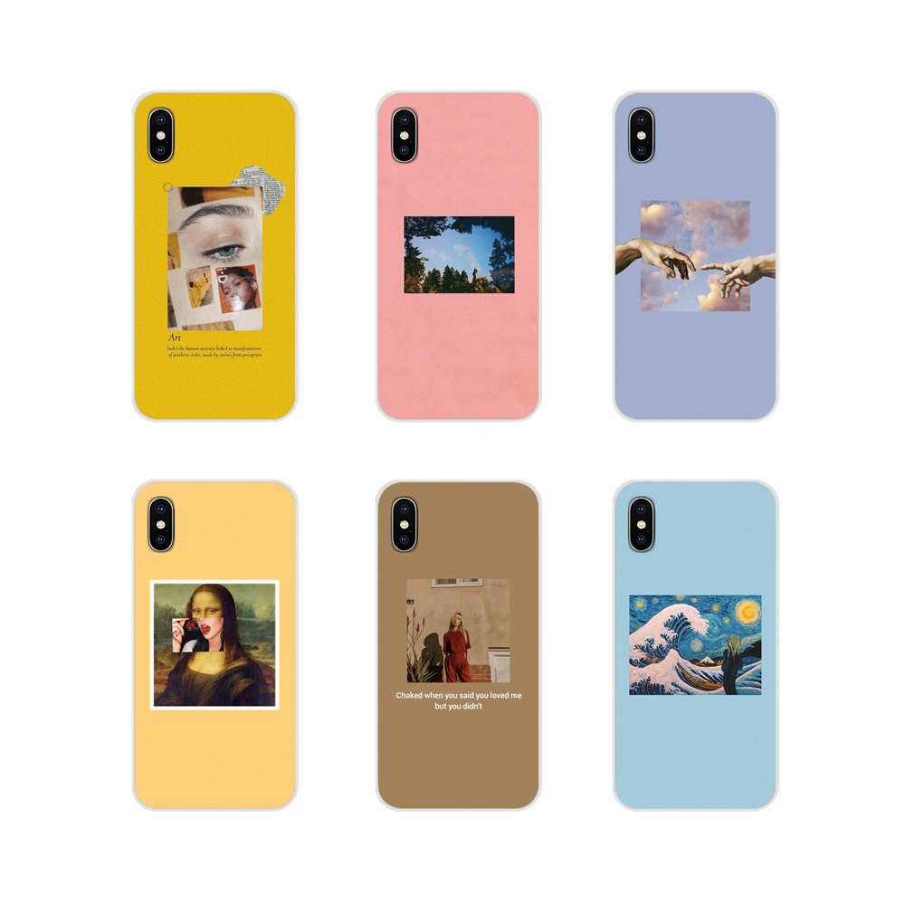 For <font><b>Samsung</b></font> <font><b>Galaxy</b></font> S4 S5 MINI S6 S7 edge S8 S9 S10 Plus Note 3 4 5 8 <font><b>9</b></font> TPU Transparent Cases Covers Great art aesthetic van Gogh image