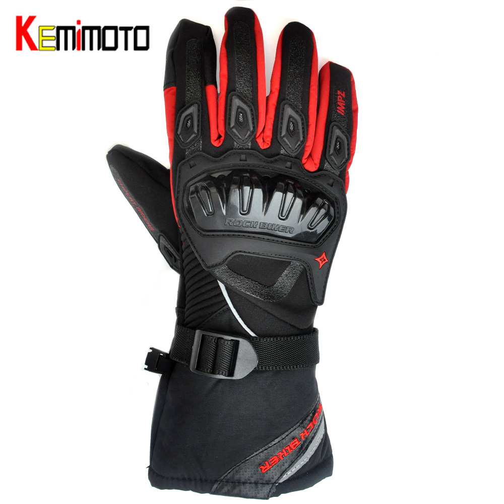 Kemimoto Motorcycle-Gloves Touch-Screen Racing Waterproof Winter Warm Man