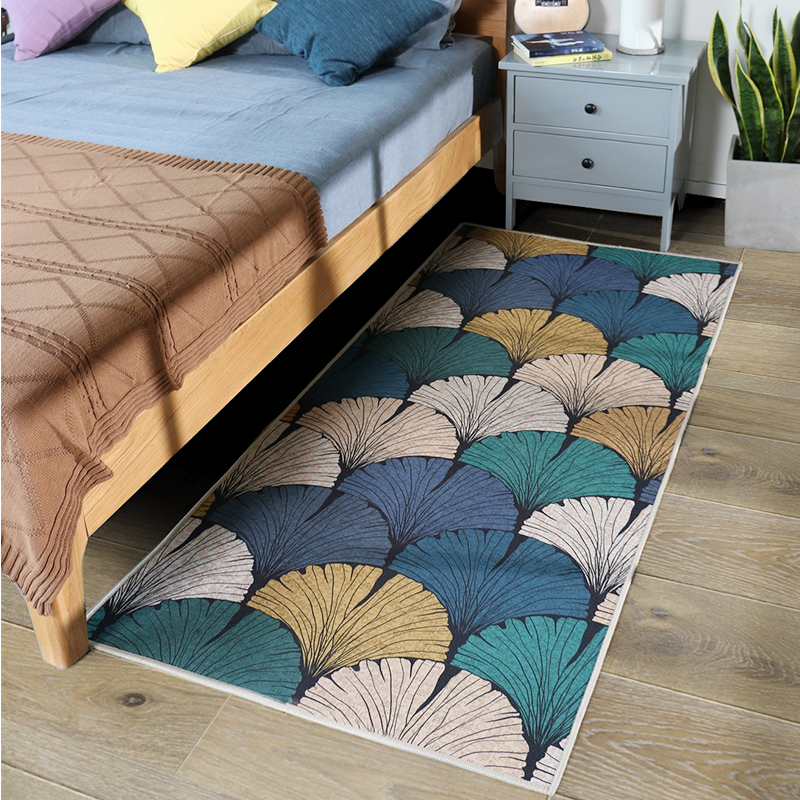 Hot Sale Hand woven thicken cotton carpet bedroom rug kids soft play mats bay window sofa cushion natural fabrics with tassel
