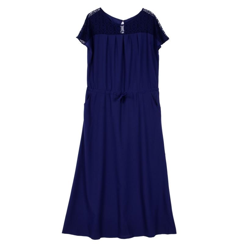 Plus Size Elegent Women Short Sleeve Long Evening Party Prom Maxi Dress G44