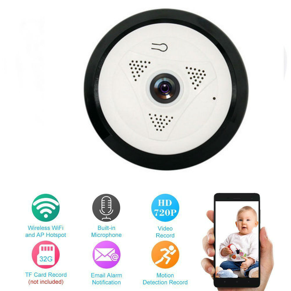 YobangSecurity 360 Degree 960P 1.3MP Wifi IP Camera Wireless Indoor Wifi Cam Home Surveillance Camera Day Night Remote Viewing
