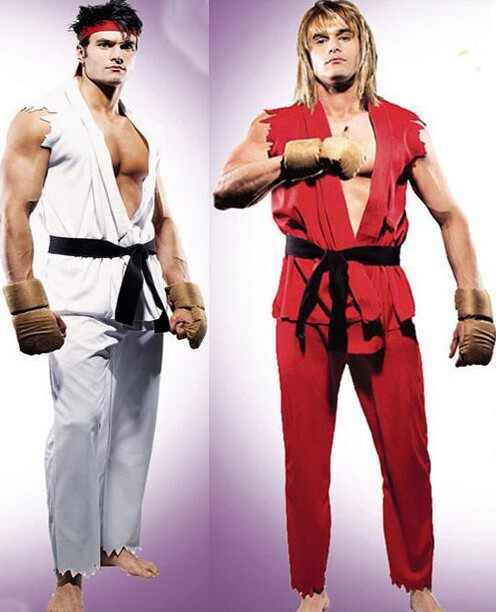 Aliexpress.com : Buy Street Fighter Game Ken Ryu Cosplay Costume ...