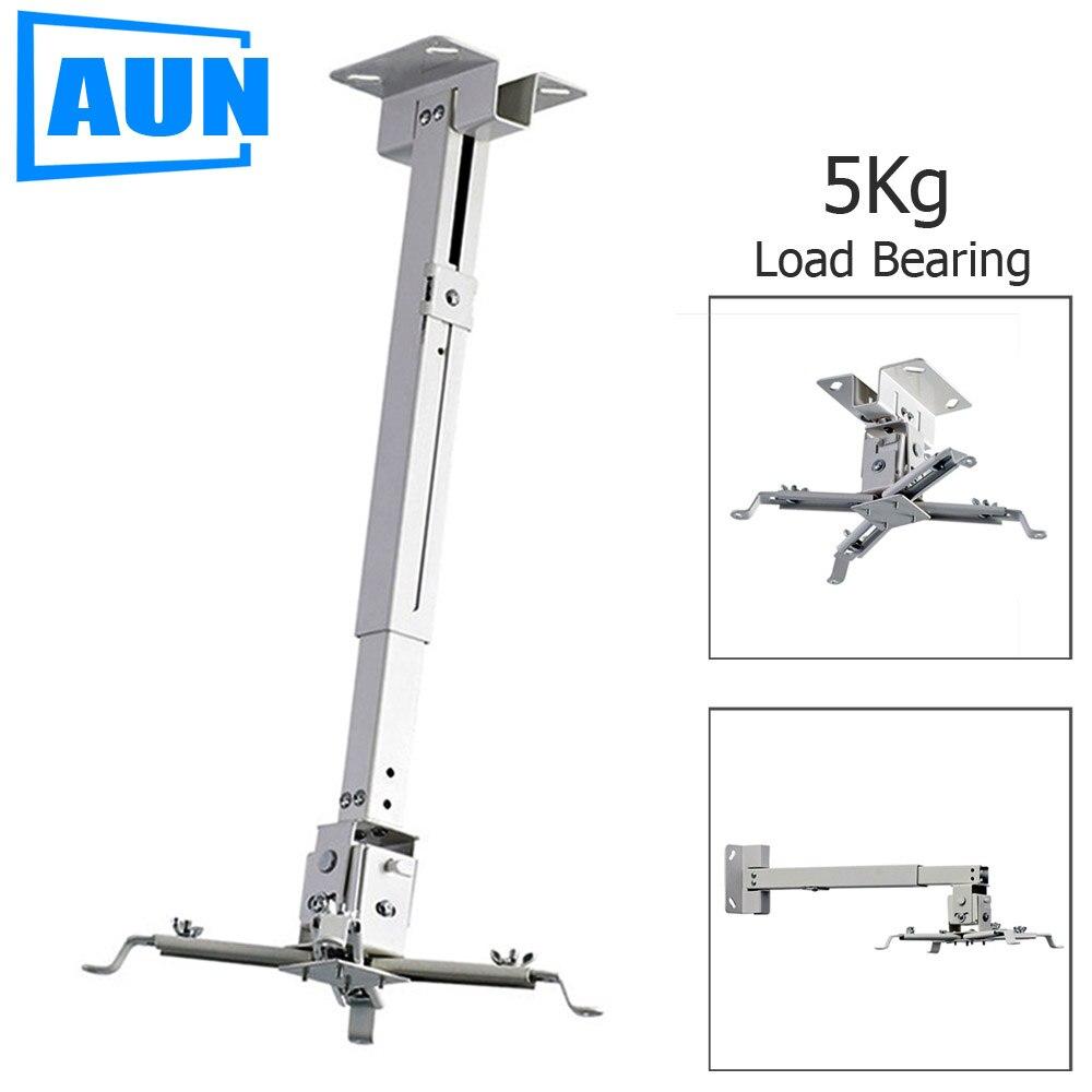AUN Einstellbare Projektor Decken Halterung Laden 5 kg Dach Projektor Halterung Für Multimedia Projektor FÜHRTE Proyector Video Projektor