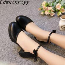 Женские босоножки с круглым носком сандалии на высоком каблуке