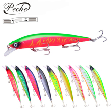 Купить с кэшбэком Peche Big Minnow Fishing Lures Wobblers Crankbaits Jerkbaits Artificial Hard Baits Hooks 3D Eyes for Fishing Carp Pesca Isca
