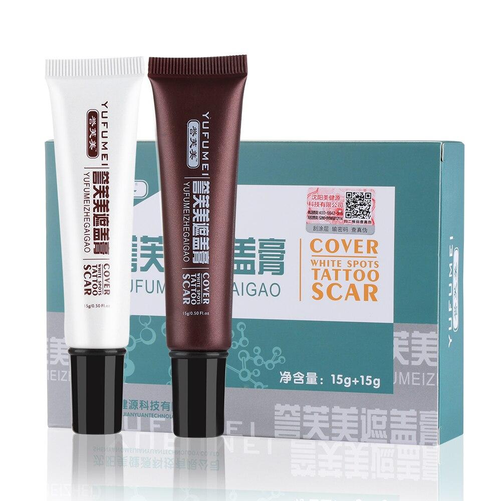 Concealer Cover-Up Tattoo Makeup Spot-Hide Scar Waterproof Birthmark Skin Cream 2PC