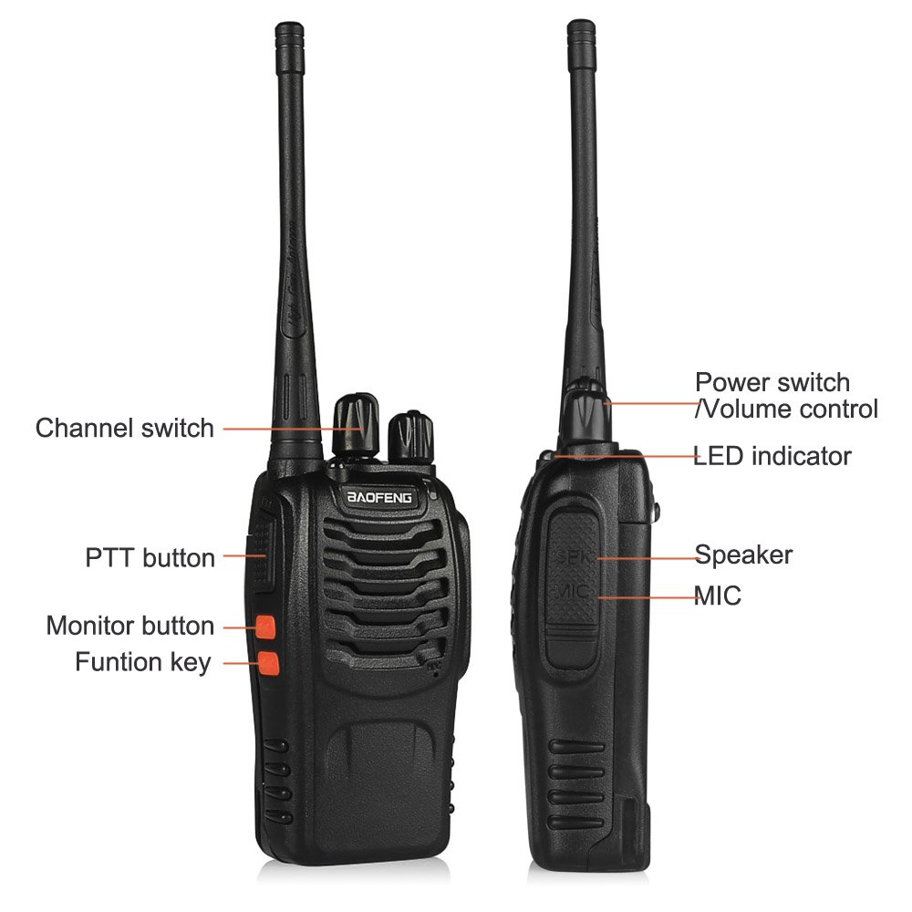 Image 3 - 1PC /2PCS Baofeng bf 888s Walkie Talkie Radio Station UHF 400 470MHz 16CH BF 888s Radio talki walki BF 888s Portable Transceiver-in Walkie Talkie from Cellphones & Telecommunications