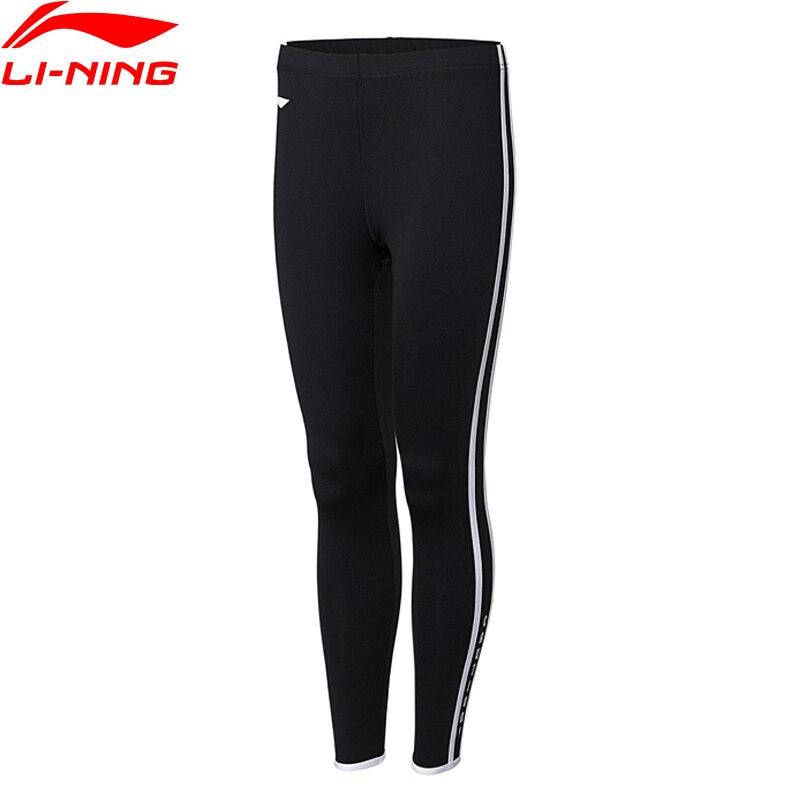 Li-Ning Women Professional Training Tights Elastic Tight Fit Breathable Comfort Li Ning LiNing Sports Pants AULN062 MKY358